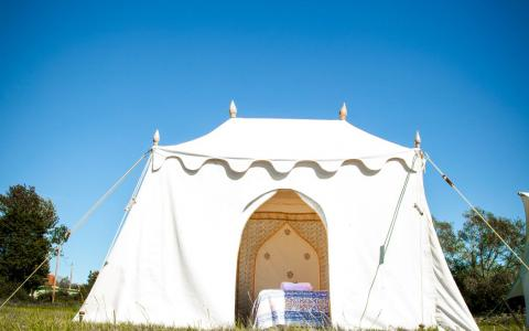 Pilton Manor Boutique Glamping for the Glastonbury Festival, Bedi Tent