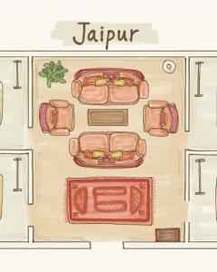 Pilton Manor Boutique Glamping for the Glastonbury Festival, Jaipur Floor Plan