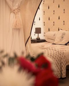 Pilton Manor Boutique Glamping for the Glastonbury Festival, Mughal Bedroom